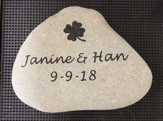 engraving on stone rock gift for the garden