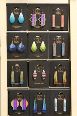 earring jewelry gift selection at stone garden