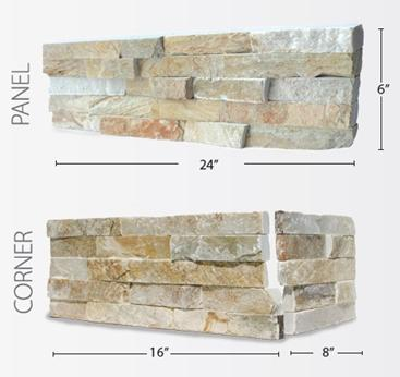 Realstone flats and corners diagram