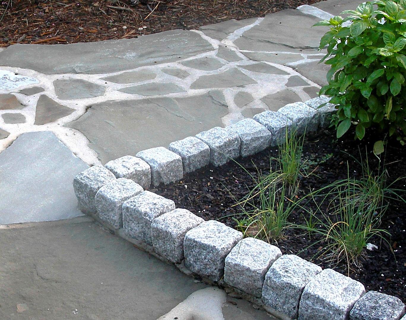 Edging Cobblestone Stone Garden Wilmington North Carolina