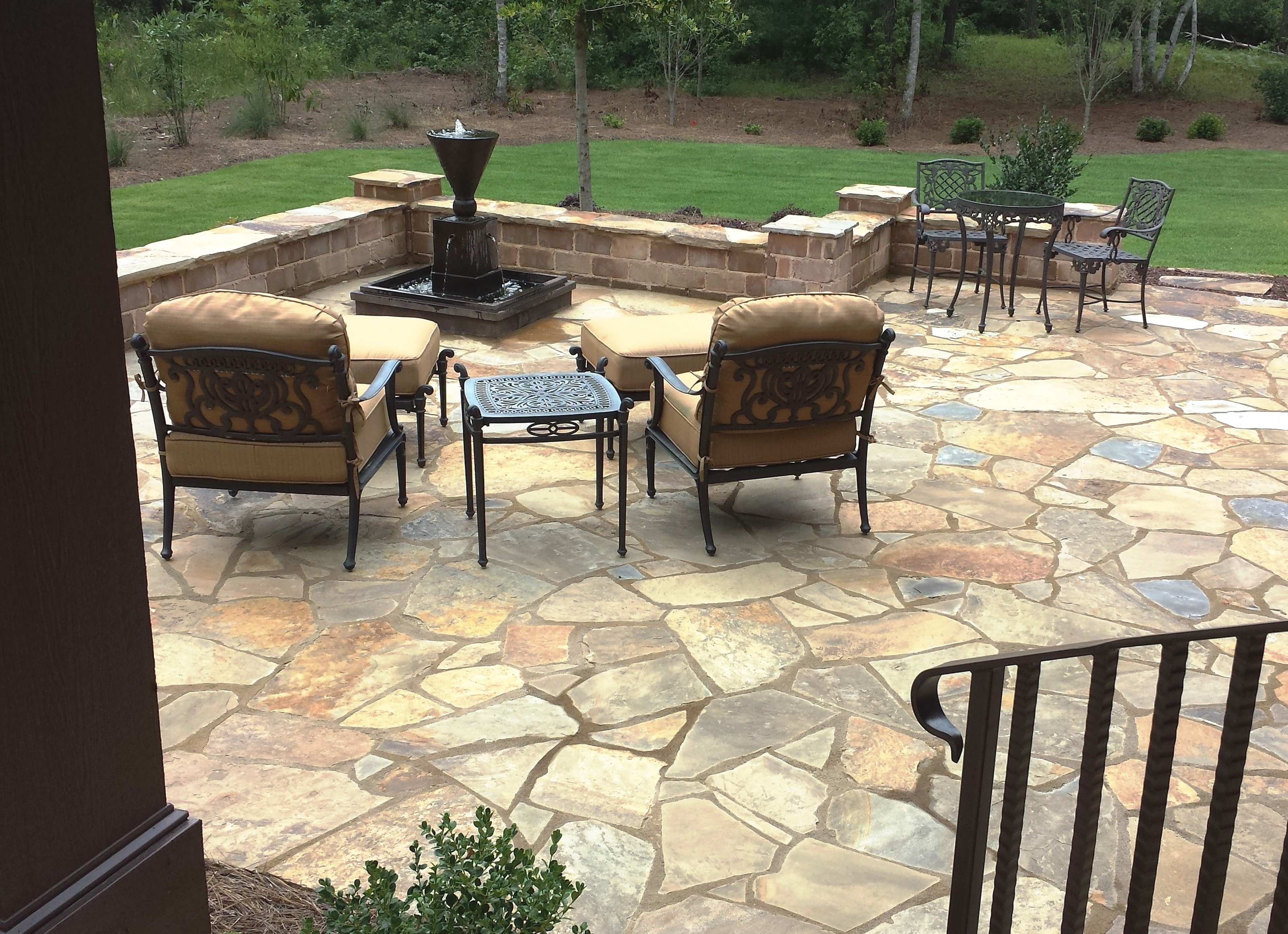 Irregular Flagstone Stone Garden Wilmington North Carolina