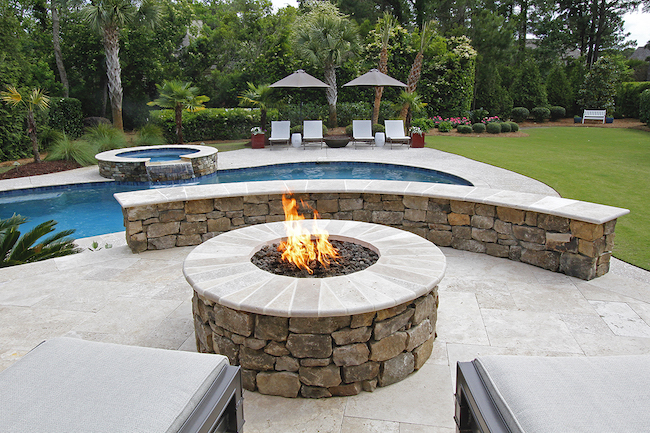 stone garden fountains pavers pathways rock gravel outdoor living fire pit grill tops hearth patio mulch pinestraw natural DIY